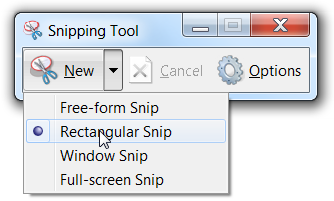 snipping tool windows 7 shortcut