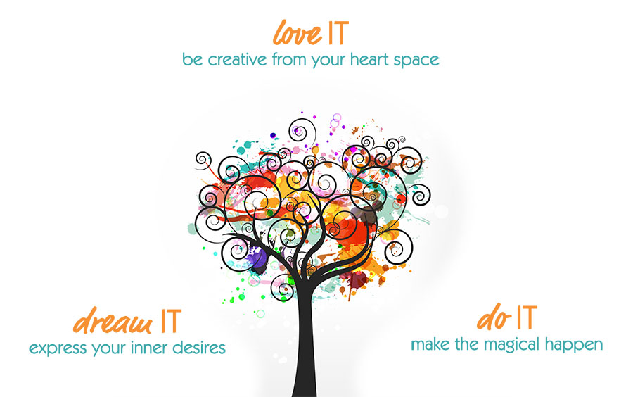 Love IT - be creative; Dream IT -  express your inner desires; Do IT - make the magical happen